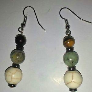 Handmade Cateye and Agate earrings